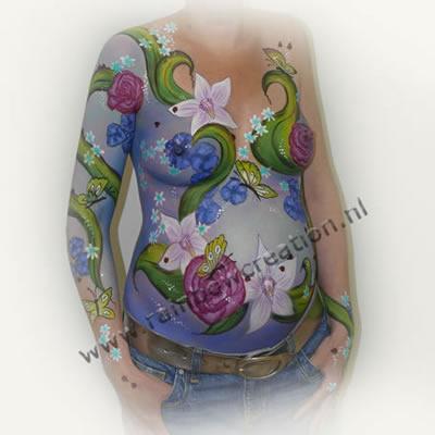... belly-/bodypainting zie onze officiële website www.rainbowcreation.nl